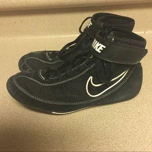 Nike Black Speed-Sweep-VII-Wrestling-Shoes-size-6Y